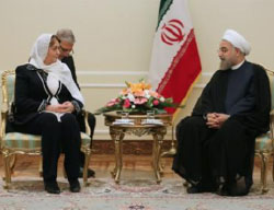 Hadiya Khalaf Abbas meets with Hassan Rouhani (Tasnim, September 27, 2016)