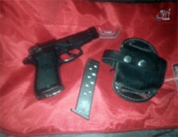 The gun of the Algerian police officer killed by ISIS operatives (Aamaq, October 29, 2016)
