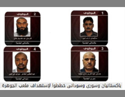 Four ISIS operatives arrested for planning a bombing attack at a soccer game in Jeddah, Saudi Arabia (Al-Arabiya, October 30, 2016)