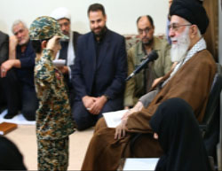 Ali Khamenei meets with the families of Iranians killed fighting in Syria (Website of Ali Khamenei, November 1, 2016).
