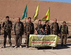 The senior command of the Syrian Democratic Forces declares the opening of Operation Euphrates Wrath to take over the city of Al-Raqqah and its rural area (press23, November 6, 2016)