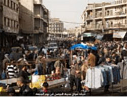 A crowded market in Mosul on Friday.