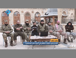 The rebel forces announcing the establishment of the Aleppo Army, a joint military framework to fight the Syrian Army (Halab Today TV, December 3, 2016)