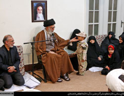 Khamenei meets with families of IRGC fighters who were killed in Syria (Website of Ali Khamenei, December 5, 2016).