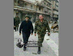 Qasem Soleimani in eastern Aleppo (Iranian Twitter accounts, December 16, 2016).