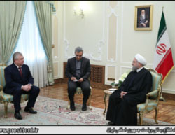 Iranian President Rouhani meets with Russian envoy Alexander Lavrentiev (Website of Hassan Rouhani, December 3, 2016).