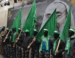 Rally held by Hamas' Islamic Bloc in Bir Zeit University (Facebook page of the Islamic Bloc at Bir Zeit University, December 14, 2016).