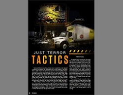 "Encouraging vehicular attacks in a series of articles: ""Just Terror Tactics""  (Rumiyah, November 11, 2016)."