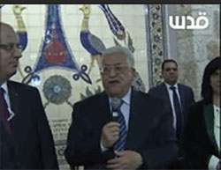 Mahmoud Abbas praises the Security Council resolution during a Christmas event in Bethlehem (Facebook page of QudsN, December 25, 2016).