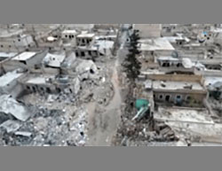 Heavy damage sustained by the city of Al-Bab, according to ISIS's claim as a result of Turkish Air Force airstrikes and the Turkish artillery (Haqq; Aamaq, January 2, 2017)