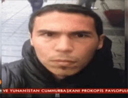 Selfie of the terrorist suspected of carrying out the shooting attack in the Istanbul nightclub, taken in Taksim Square in Istanbul before the attack (Qudsn Facebook page, January 2, 2017)