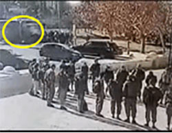 Security camera pictures documenting the vehicular attack in Armon Hanatziv in Jerusalem (YouTube, January 8, 2017).