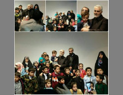 Soleimani with the children of IRGC fighters killed in Syria  (Iranian Telegram channel, January 6, 2017).