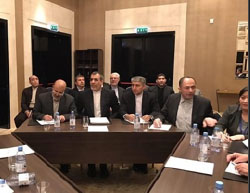 The Iranian delegation at the talks in Astana (Mehr, January 24, 2017).