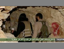 An ISIS tunnel located outside Al-Bab, which allows entering the city and going out of it. The tunnel was built based on the city's water canals (all4syria.info, February 4, 2017)