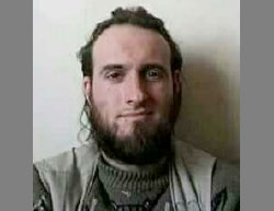 Jonathan Jeffrey (Abu Ibrahim al-Faransi), who had been captured by the rebel forces in the vicinity of Al-Bab (Twitter account, February 19, 2017)