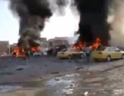 The scene of the attack in southwest Baghdad (Al-Jazeera, February 17, 2017)