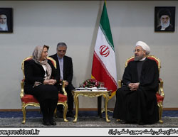 Hassan Rouhani meets with Hadiya Abbas (Website of the Iranian president, February 22, 2017).
