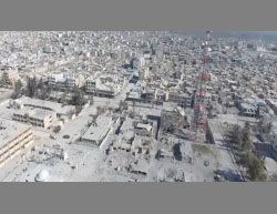 The city of Al-Bab from above (Sham Front YouTube account, February 25, 2017)