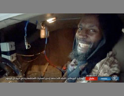 Abu Zakariya al-Baritani in his way to carry out the suicide bombing attack.