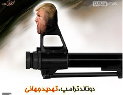 """Donald Trump, a global menace"" (Tasnim News, January 18, 2017)."