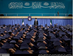 Khamenei delivering the speech to Iranian Air Force officers (Supreme Leader's website, February 7, 2017).
