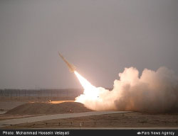 Launch of an Iranian Mersad short-range surface-to-air missile (Fars News, December 27, 2016).