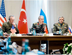 Summit meeting between the chiefs of staff of the US, Russian and Turkish armies (Russian Defense Ministry website, March 7, 2017)