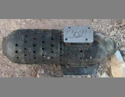 Shell fired by the Free Syrian Army. The Military Council of Manbij claims that it contained a chemical substance (the Military Council of Manbij and its Rural Area, March 8, 2017)