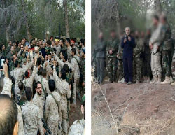 Qods Force Commander Qassem Soleimani briefing fighters, apparently in the Latakia area in Syria (Facebook, October 13, 2015)
