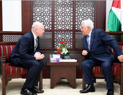 Mahmoud Abbas meets with Jason Greenblatt, Trump's special representative for international negotiations (Wafa, March 14, 2017).