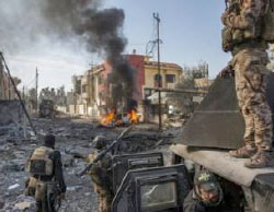 The Iraqi security forces in west Mosul's fighting zones (Nineveh Information Center, March 19, 2017)