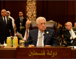 Mahmoud Abbas at the 28th Arab summit, held in Jordan (Wafa, March 29, 2017).