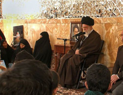 Khamenei meets with families of Afghan shaheeds in Syria  (Tasnim, March 28, 2017).