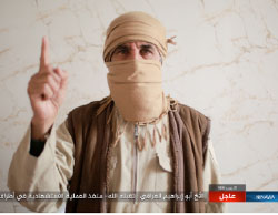Suicide bomber condenamed Abu Ibrahim Al-Iraqi, who carried out a suicide bombing attack in the Al-Thwara neighborhood (Haqq, April 17, 2017).