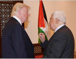 Mahmoud Abbas meets with Donald Trump in Bethlehem (Wafa, May 23, 2017).