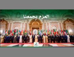 Participants in the Arab-Islamic-American summit in Riyadh (the official Twitter page of the summit, May 21, 2017)