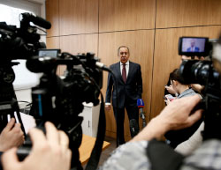 Russian Foreign Minister Sergei Lavrov at the press conference (Russian Foreign Ministry's website, May 19, 2017)