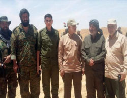 Qasem Soleimani (third from right) with Iraqi Shi'ite militia fighters (Twitter, May 29, 2017).