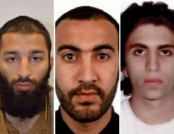 The three terrorists involved in the attack (from left to right): KhuramShazad Butt, RachidRedouane, and Youssef Zaghba (London Metropolitan Police website, June 6, 2017).