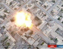 Detonation of an ISIS car bomb in the Al-Mashlab neighborhood (Haqq, June 8, 2017).