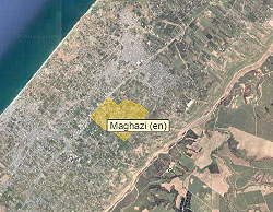 The al-Maghazi refugee camp in the central Gaza Strip (Wikimapia, June 12, 2017).