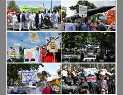 World Jerusalem Day processions in Tehran (ISNA, June 23, 2017).