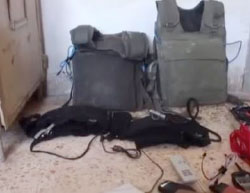 Explosive vests found during the detention campaign (Orient News, July 10, 2017)