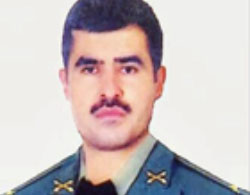 Mehdi Joudi, Iranian army officer killed in Syria (Twitter, July 12, 2017).