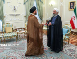 Rouhani meets with al-Hakim (ISNA, July 4, 2017).