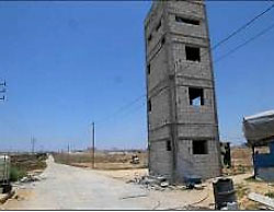 One of the observation towers erected in the buffer zone (Facebook page of the Hamas ministry of the interior in the Gaza Strip, June 28, 2017).
