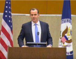 Special Presidential Envoy for the Coalition Brett H. McGurk at a press conference  (US Department of State website, July 13, 2017)