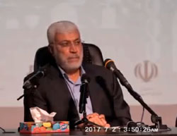 Abu-Mahdi al-Muhandis, deputy commander of the Popular Mobilization Committee, the umbrella organization for the Shi'ite militias operating in Iraq, at a conference of the Union of Radio and Television in Mashhad, Iran (Sawt al-Ahwaz, July 2, 2017).