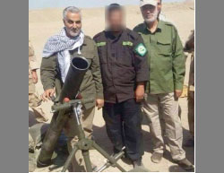 Abu Mahdi al-Muhandis (right) and Qasem Soleimani, commander of the Qods Force (left) in picture taken in eastern Iraq (Tehran Press, March 8, 2015).